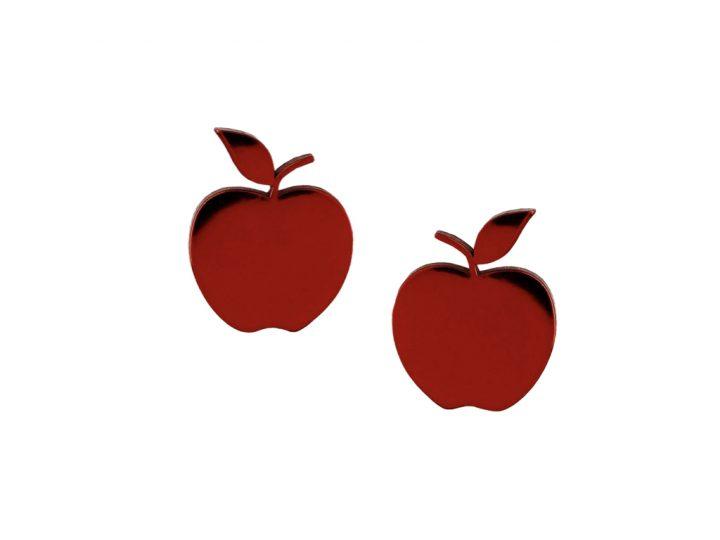 loroetu, orecchini lobo mele bordeaux, lobe bordeaux apple earrings