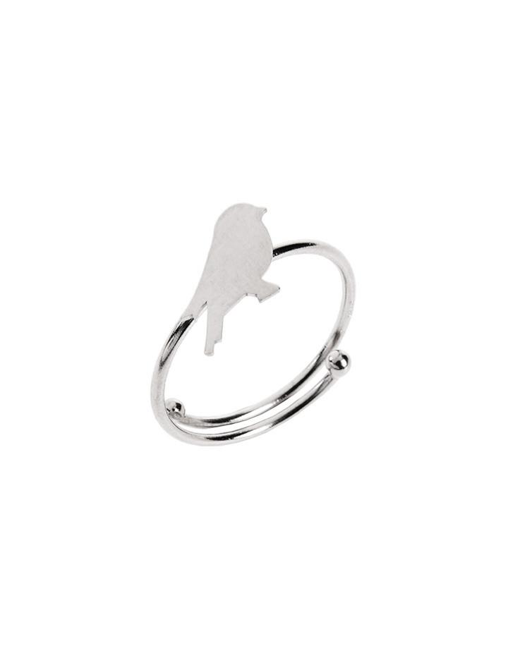 loroetu, anello argento con uccellino, silver ring with bird