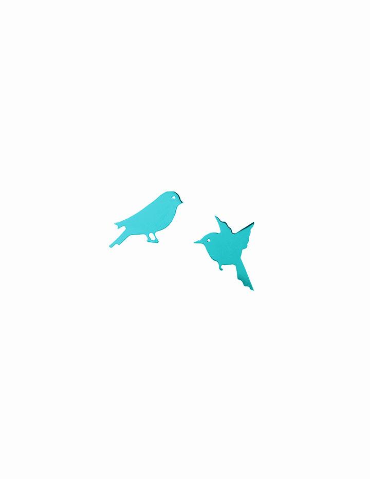 loroetu, orecchini turchesi con uccellini, turquoise earrings with birds