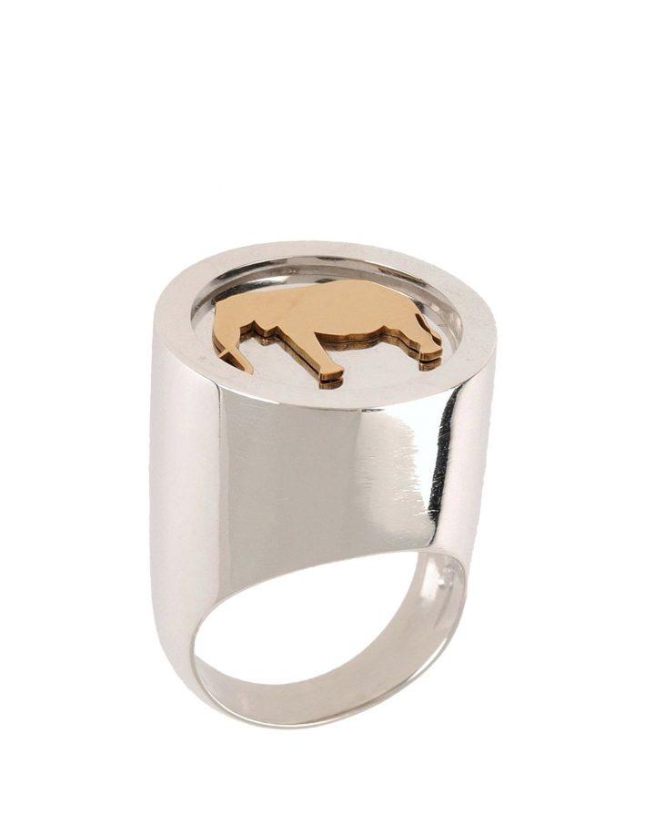 loroetu, chevalier ring with elephant, anello elefante