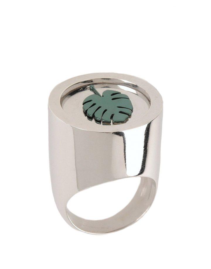 LOROETU, anello monstera, chevalier ring
