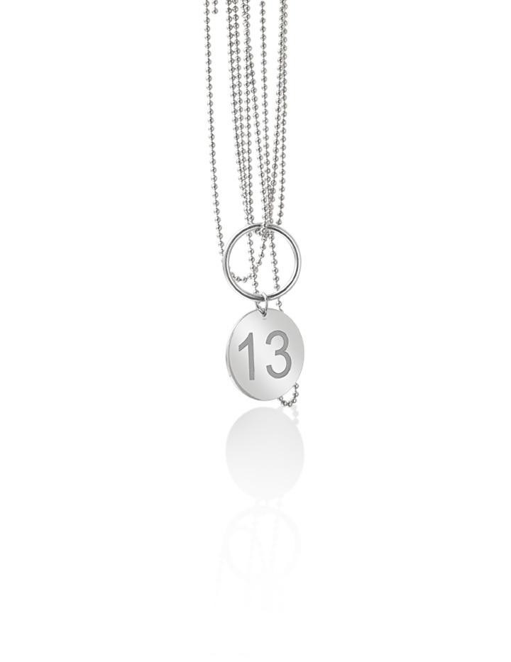 loroetu, collana numero personalizzabile argento
