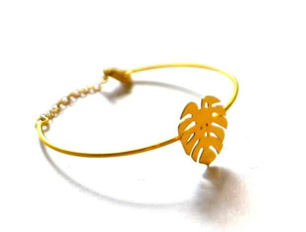 loroetu, bracciale rigido oro palma, gold bangle with montera