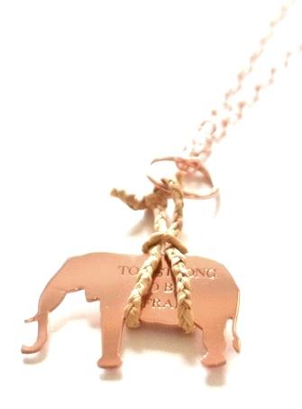 loroetu, elephant necklace, collana elefante, incisione troppo forte per la paura