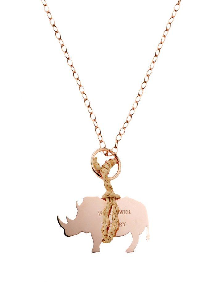 loroetu, collana rinoceronte, rhino necklace