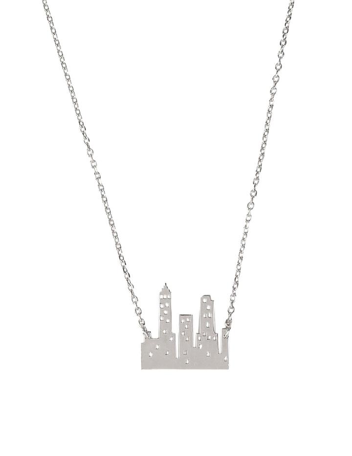loroetu, collana con skyline, skyline necklace