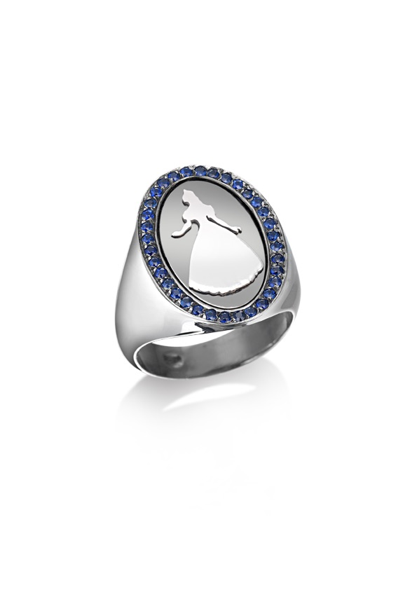 loroetu, anello chevalier, argento e zaffiri, chevalier ring, silver and sapphires