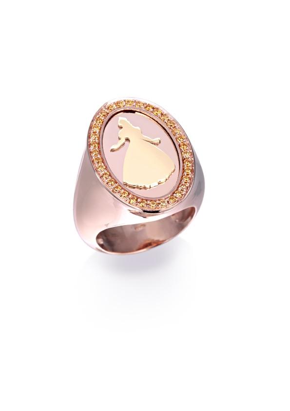 loroetu, chevalier rose gold ring with orange citrines, anello chevalier principessa oro rosa citrine arancio