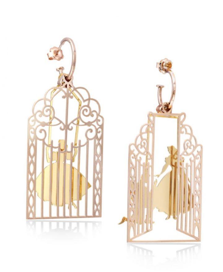 Loroetu Prince Princess Love Earrings rosé gold Silver