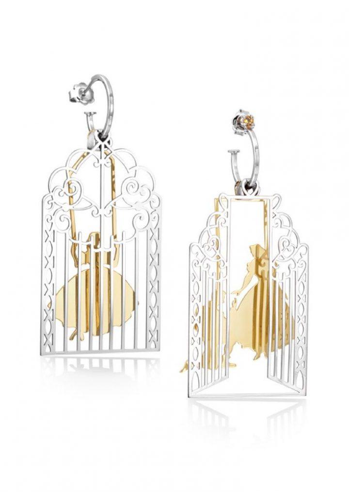 Loroetu Prince Princess Love Earrings rodhium gold Silver