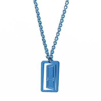 loroetu, collana porta blu, door blue necklace
