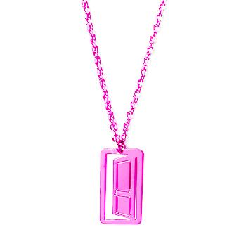 loroetu, collana porta fucsia, door fuchsia necklace