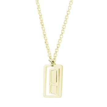 loroetu, collana porta oro giallo, door yellow gold necklace
