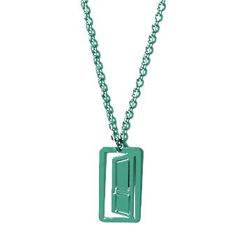 loroetu, collana porta verde scuro, door dark green necklace