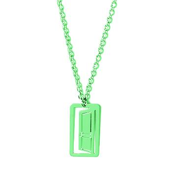 loroetu, collana porta verde chiaro, door light green necklace