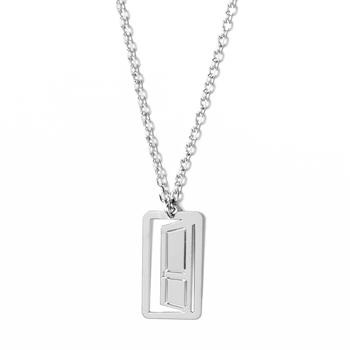loroetu, collana porta rodio, door rhodium necklace