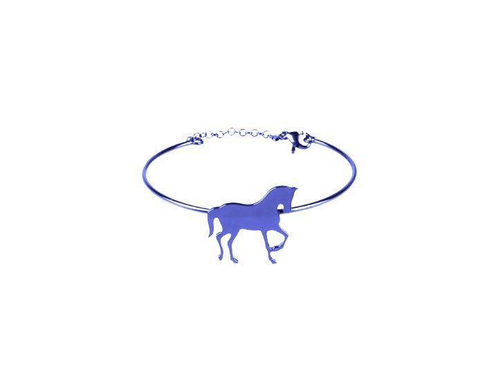 loroetu, blue, horse, bangle, bracciale rigido, cavallo, equitazione