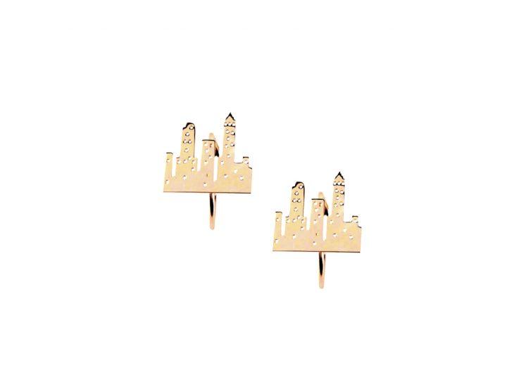 loroetu, orecchini città oro, gold city earrings