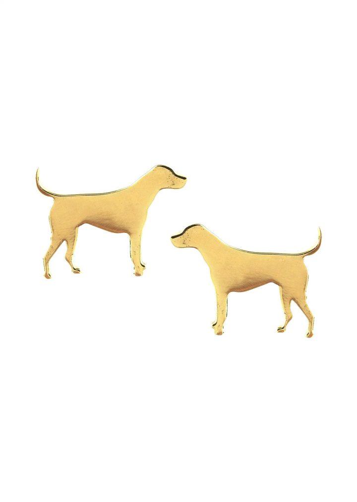 loroetu, orecchini lobo cane, dog gold earrings