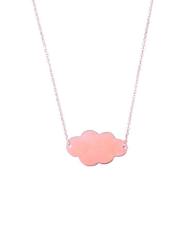 loroetu, collana nuvola oro rosa, rosegold cloud necklace