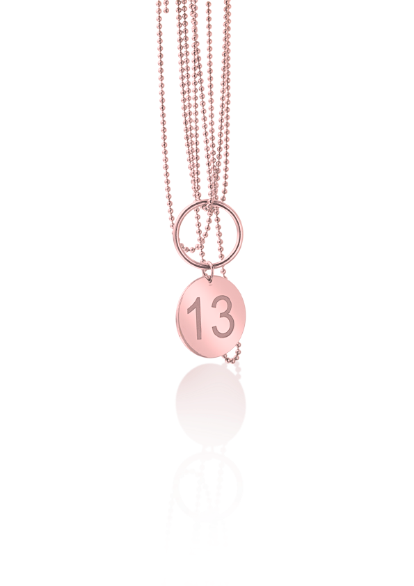 Loroetu ethic collection necklace coin virtue number awareness jewelry silver rose gold plated