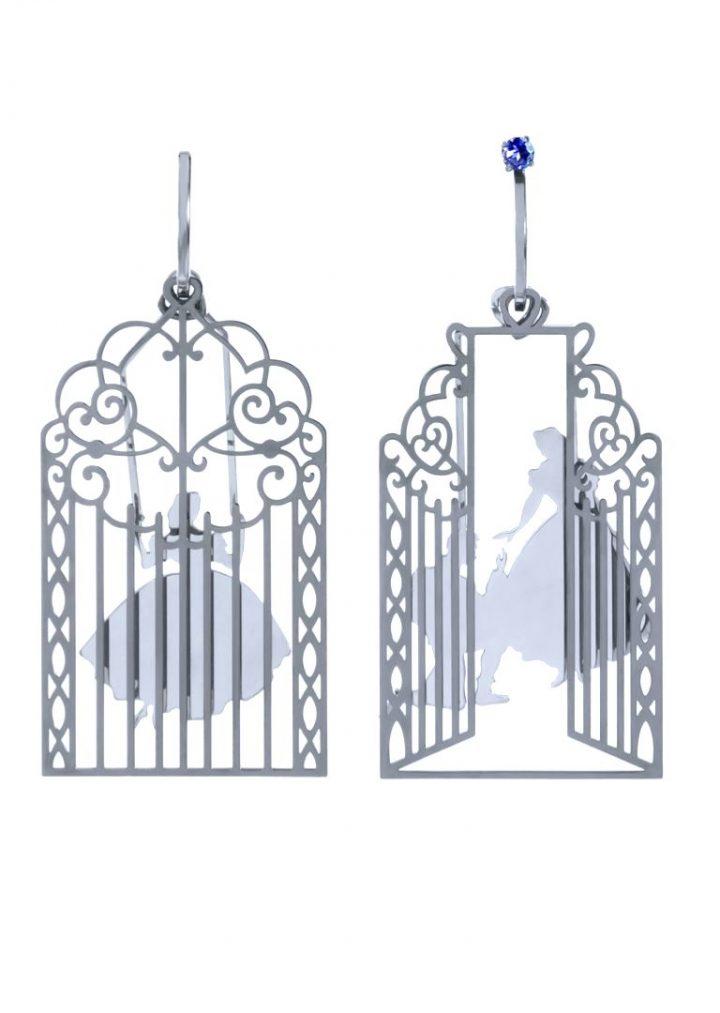 loroetu, proposta principe alla principessa gabbia, argento orecchini