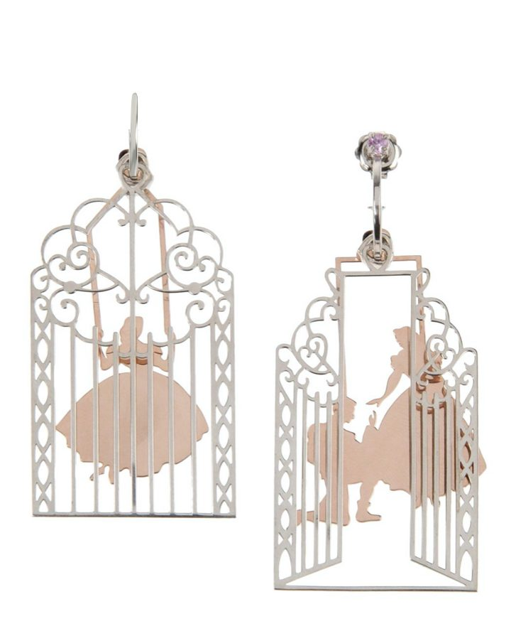 Loroetu Prince Princess Love Earrings rosé gold rodhium Silver