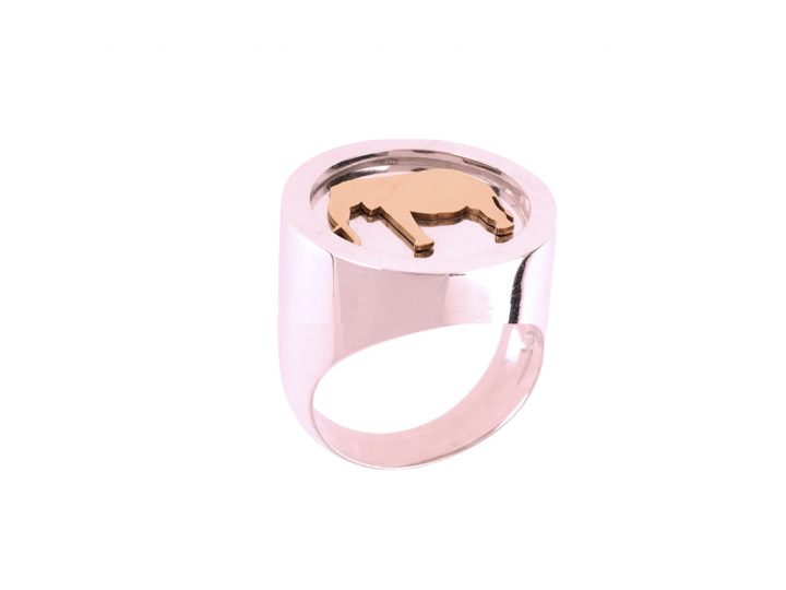 loroetu, anello chevalier elefante, elephant chevalier ring