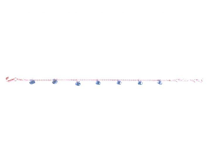 loroetu, braccialetto cristalli blu