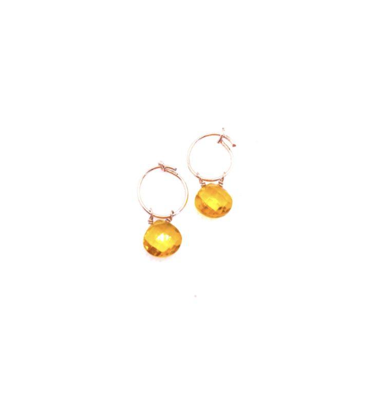 loroetu, orecchini hydro gem gialli