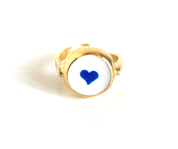 loroetu, cuore blu anello, blue heart ring
