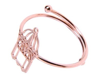 loroetu, cage ring, rose gold, anello gabbia