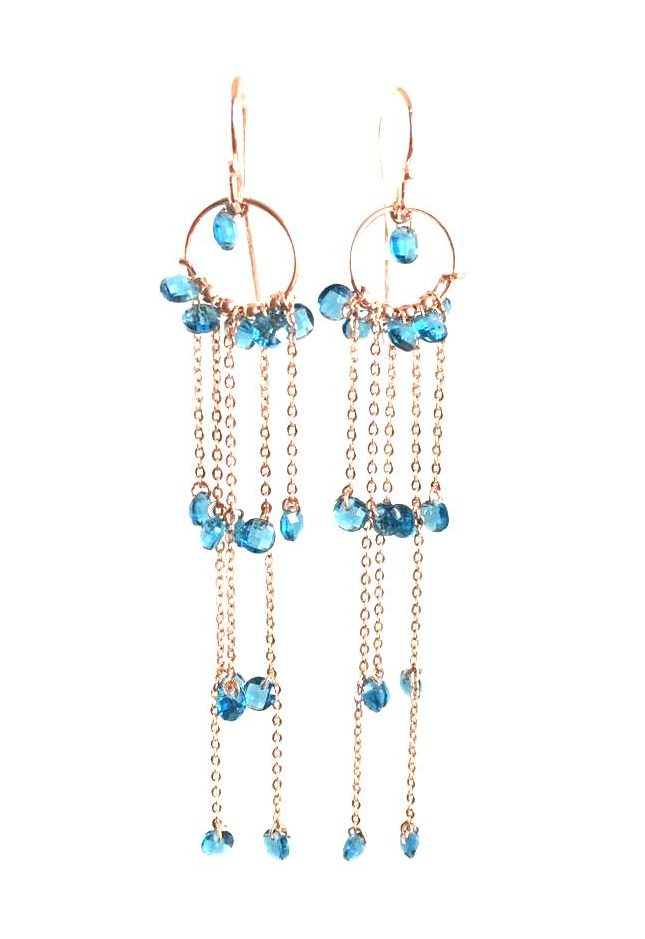 loroetu, orecchini chandelier tuchesi, turquoise chandelier earrings