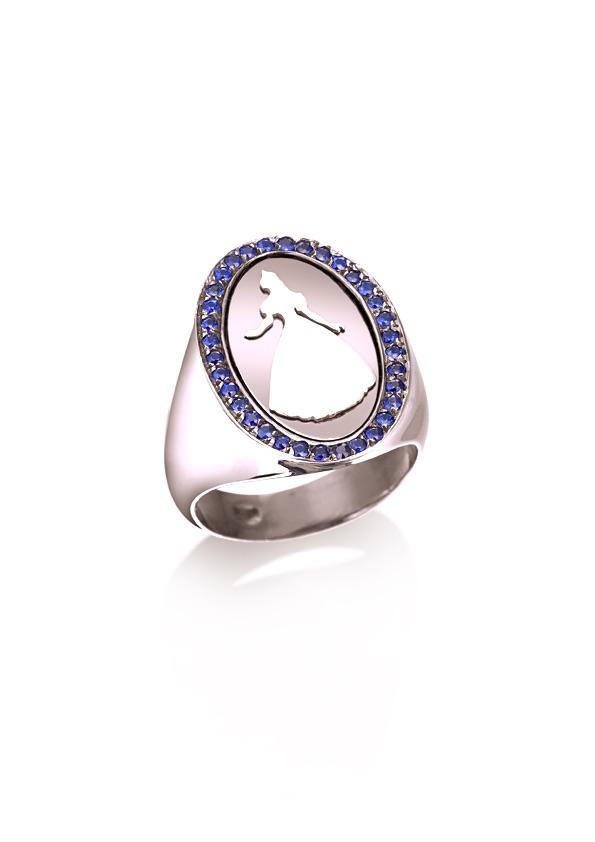 loroetu, anello chevalier principessa, rose gold, princess chevalier ring
