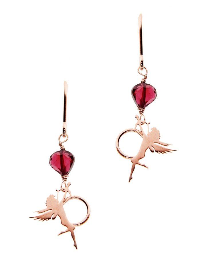 loroetu, orecchini cupido, rose gold, cupido earrings