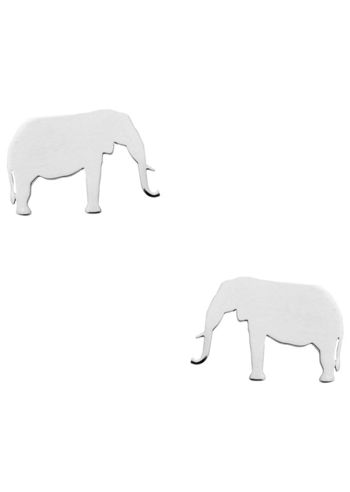 loroetu, orecchini elefante, argento silver, elephant earrings