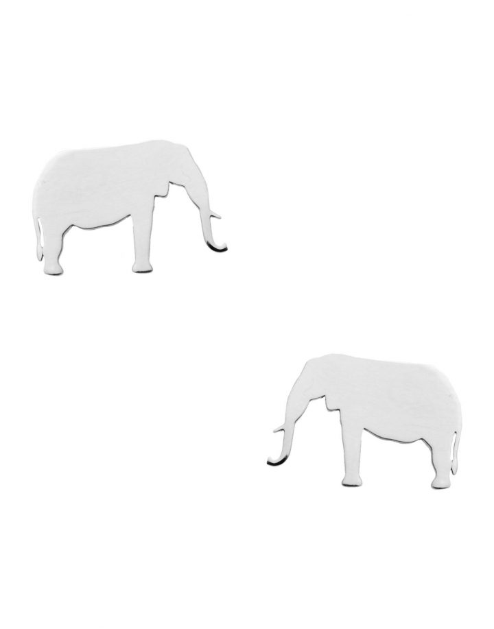 loroetu, orecchini elefante, argento silver, elephant earrings