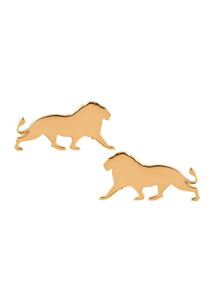 loroetu, orecchini leone, oro gold, lion earrings