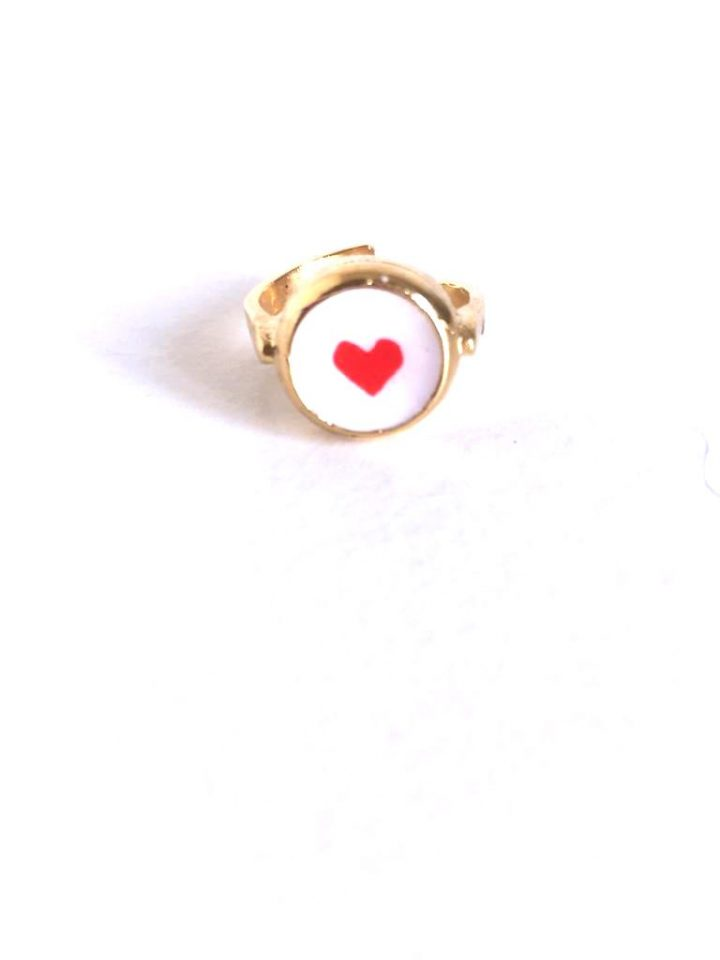loroetu, anello cuore rosso, red heart ring