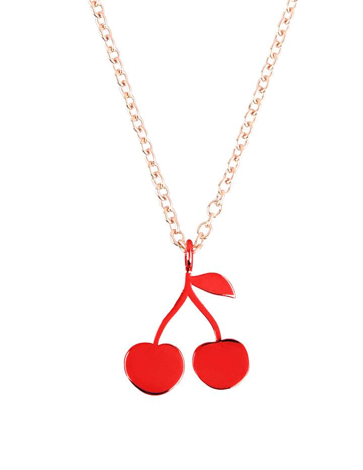 Loroetu, Cherry Necklace, Collana ciliegia, argento